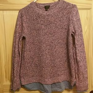 Talbots Pima cotton layered sweater